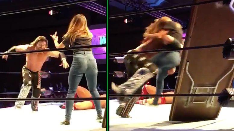 melissa santos table wrestlecon video lucha underground johnny mundo brian cage