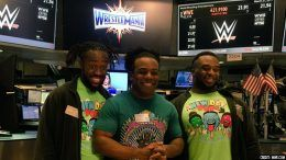 bell new day nyse opening new york stock exchange wrestlemania week xavier woods kofi kingston big e wwe