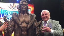 honorary statue ric flair axxess video unveiling unveiled debut debuted wwe