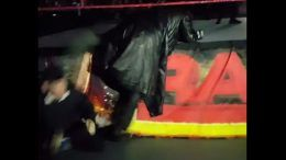 sneaking undertaker kick face production guy video raw roman reigns