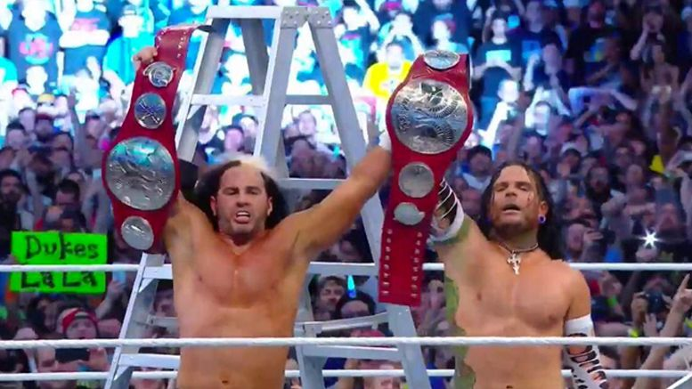 wrestlemania 33 return hardy boyz jeff matt wrestlemania video