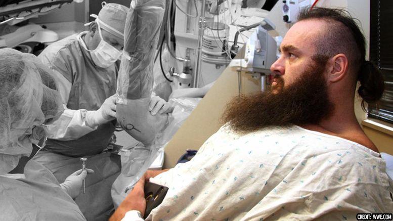 surgery braun strowman graphic photos released wwe wrestler injured