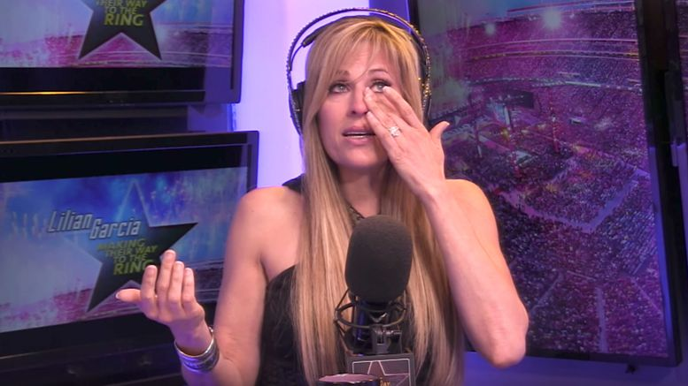 tears lilian garcia future hall of fame induction making their way to the ring video