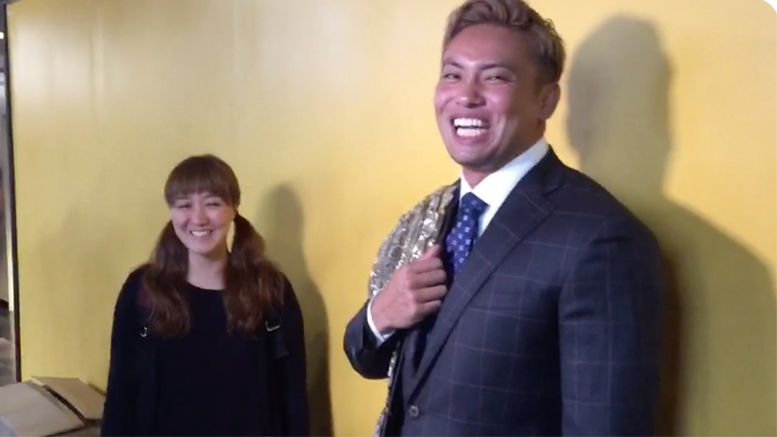 kazuchika okada in n out burger review njpw g1 special video