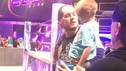baron corbin crying child family member video