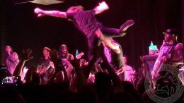 josh barnett every time I die concert tossing throwing fans stage dive video