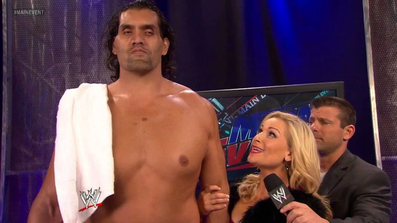 natalya great khali reunion photo