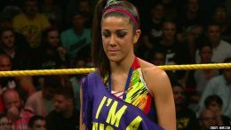 bayley injured off summerslam