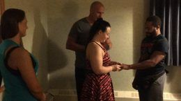 nikita koloff wedding marries travelodge