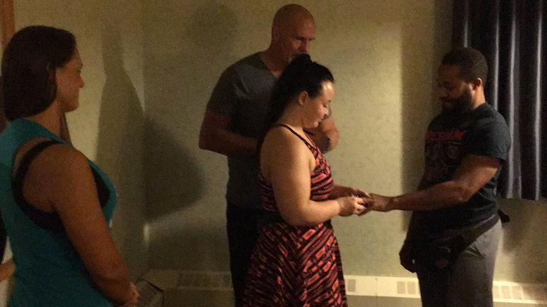 nikita koloff wedding marries travelodge