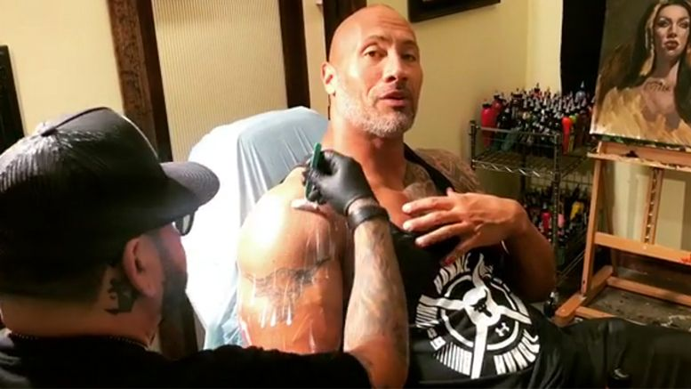 The Rock Covers His Iconic Brahma Bull Tattoo With New