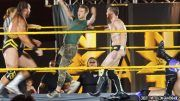 nxt live event fan jump into ring video