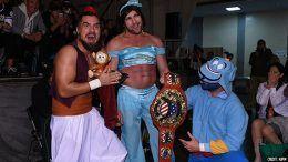 aladdin bullet club costumes njpw kenny omega princess jasmine marty scurrl