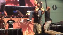 comic con stan lee young bucks powerbomb table video christopher daniels kazarian