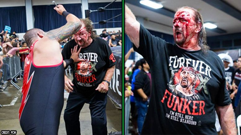 terry funk pcw bloody match