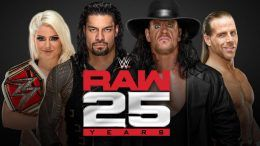 anniversary raw 25th broadcast two locations