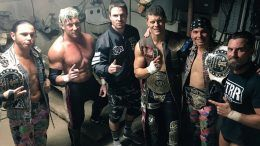 stephen amell, bullet club, roh event, cody, cody rhodes, young bucks, kenny omega