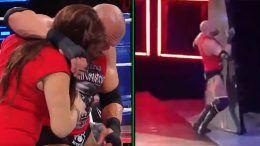 triple h braun strowman survivor series after beatdown video