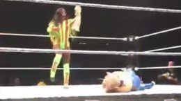 naomi snatches snatched lana bald video live event