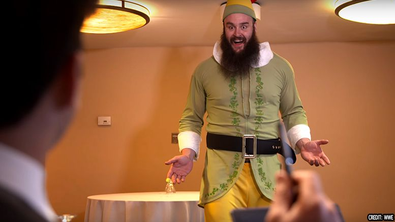 braun strowman drew gulak elf video