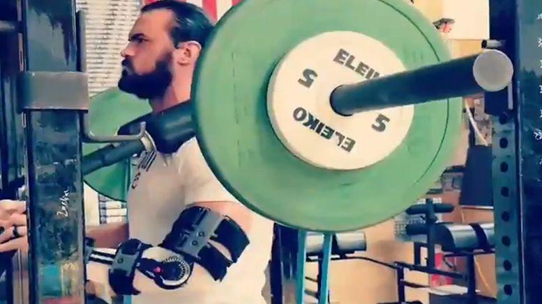 drew mcintyre surgery injury back gym video
