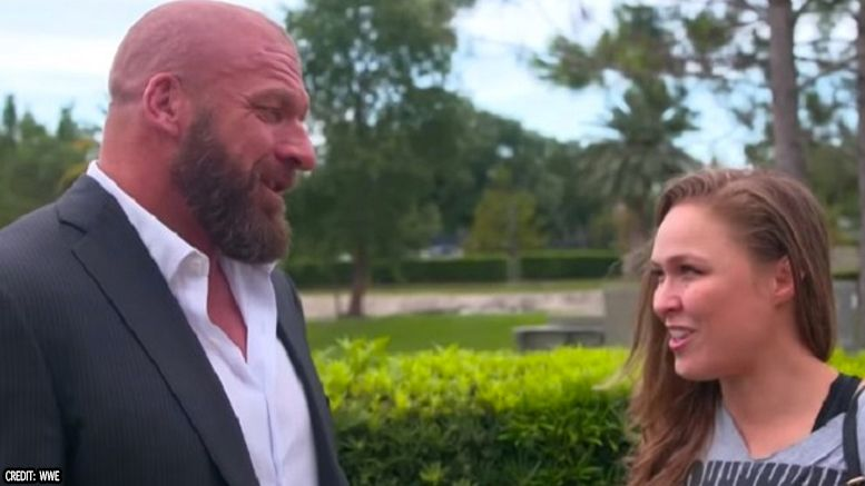 ronda rousey royal rumble wwe triple h meeting agent