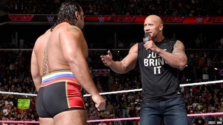 rock rusev wrestlemania 34 celebrity opponent