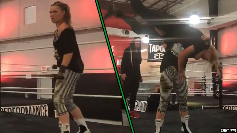 ronda rousey performance center training trains video
