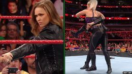 ronda rousey after raw video suplex dana brooke