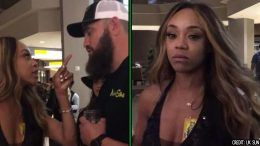 alicia fox travis browne wwe ronda rousey wrestlemania 34 argument altercation video