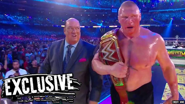 brock lesnar wrestlemania 34