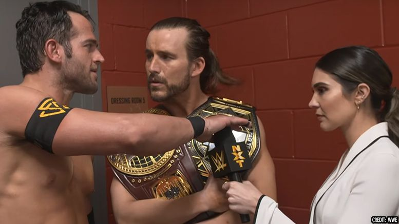 roderick strong undisputed era heel turn interview video takeover