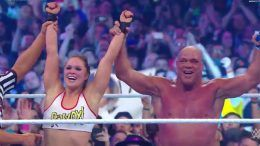 ronda rousey wins debut match wrestlemania 34