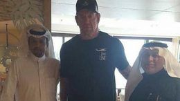 undertaker greatest royal rumble arrives photos jeddah saudi arabia