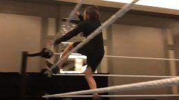 daniel bryan backflip video wrestlemania training