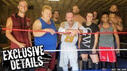 david arquette training wrestling ring photo