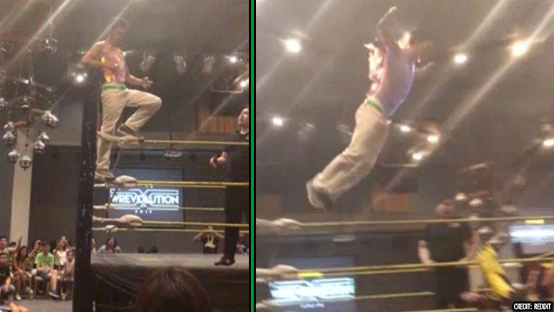 wrestler fire dive video philippines