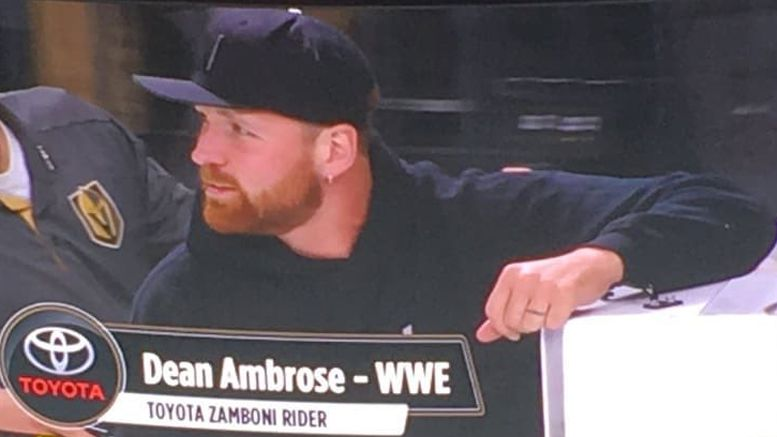 dean ambrose renee young stanley cup finals video pictures