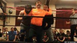 david arquette in ring return cwfh video