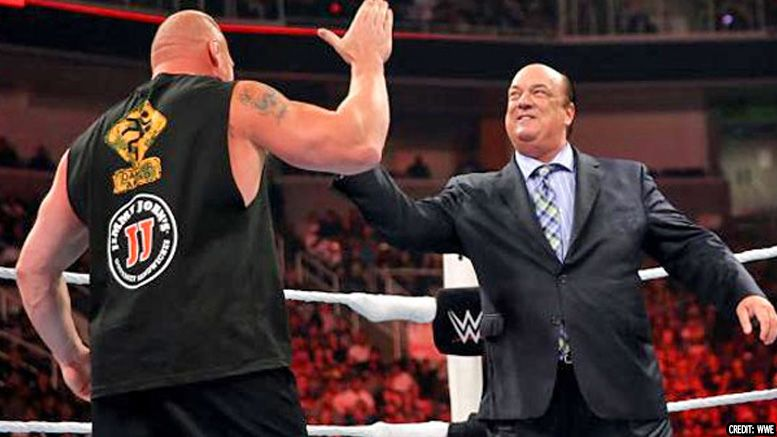 brock lesnar paul heyman world championship record wwe