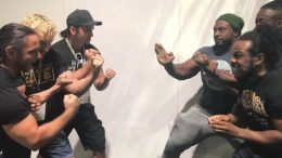 new day being the elite match teased kenny omega young bucks