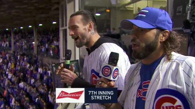 cm punk cubs 7th inning stretch video