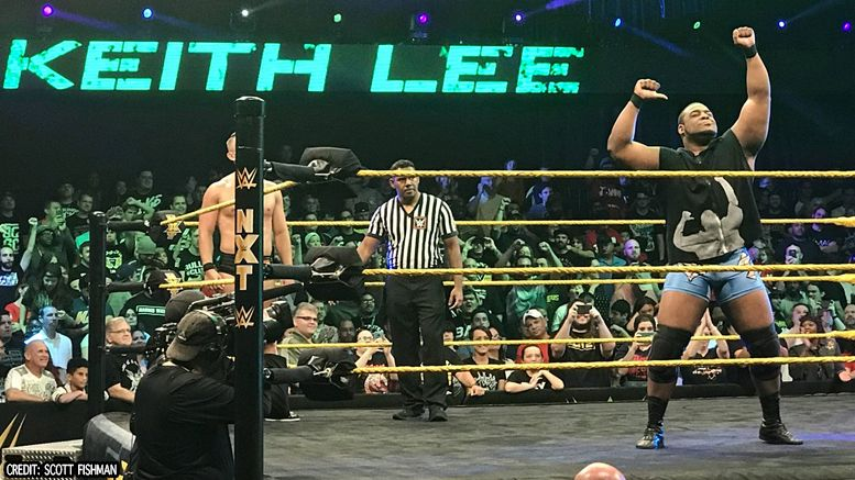 keith lee nxt ring debut tv tapings