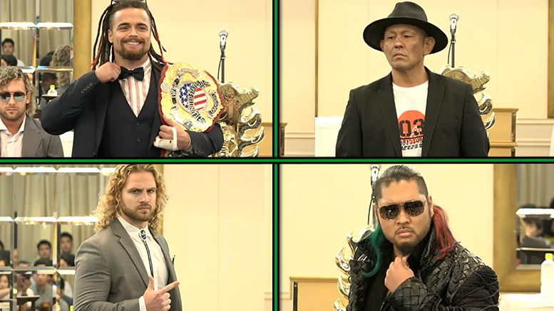 njpw fashion show climax press conference photos