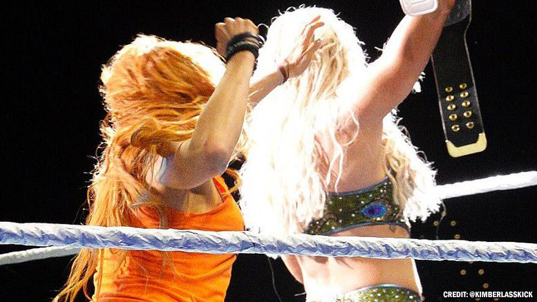 becky lynch attacks charlotte flair again live event video