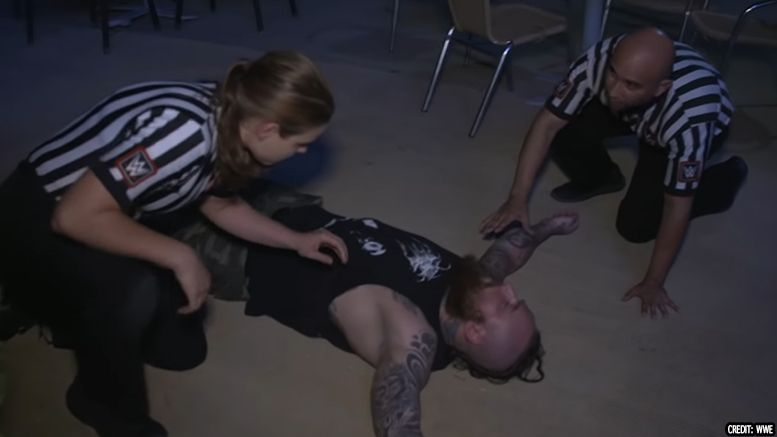 aleister black injury angle nxt takeover brooklyn groin injury surgery