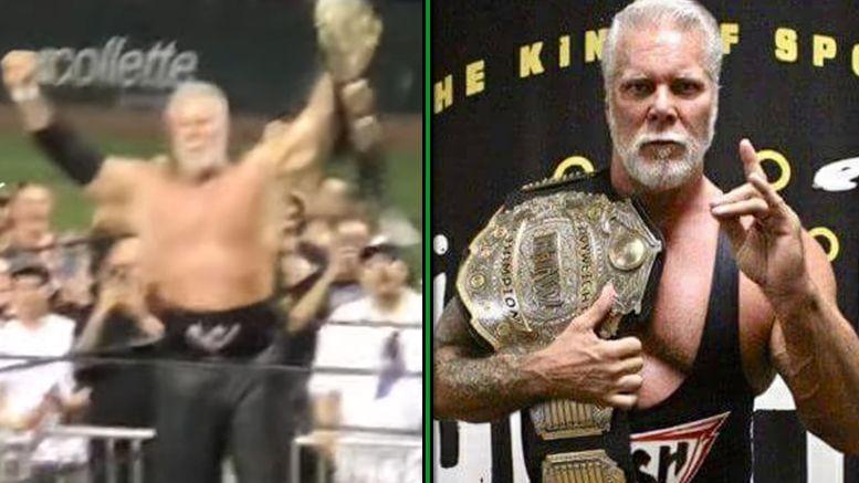 kevin nash big time wrestling title win championship video