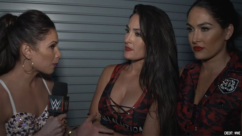 bella twins loss ronda rousey nikki brie reaction video wwe evolution