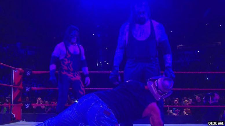 shawn michaels raw ending brothers of destruction reunion video chokeslam triple h kane tombstone