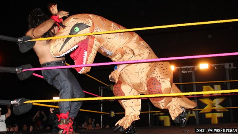 kassius ohno t rex video nxt halloween battle royal